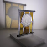 Mini vitrail réalisé en 3h par un débutant